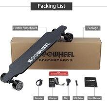 Koowheel скейтборд Максимальная скорость 43 км/ч умный Ховерборд 4 колеса электрический скейтборд двойной концентратор мотор большой радиус действия 35-40 км для взрослых