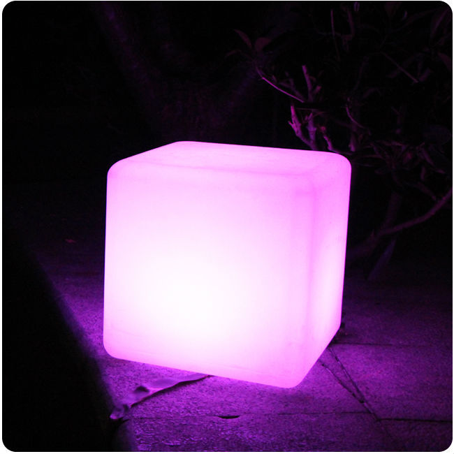 D30CM RGB color changing remote control battery powered Cordless Rechargeable LED Light cube Chair Free shipping 2pcs/Lot free shipping 43 43 43cm 16inch rechargeable wireless remote led inductive charging cube chair bar cube chair
