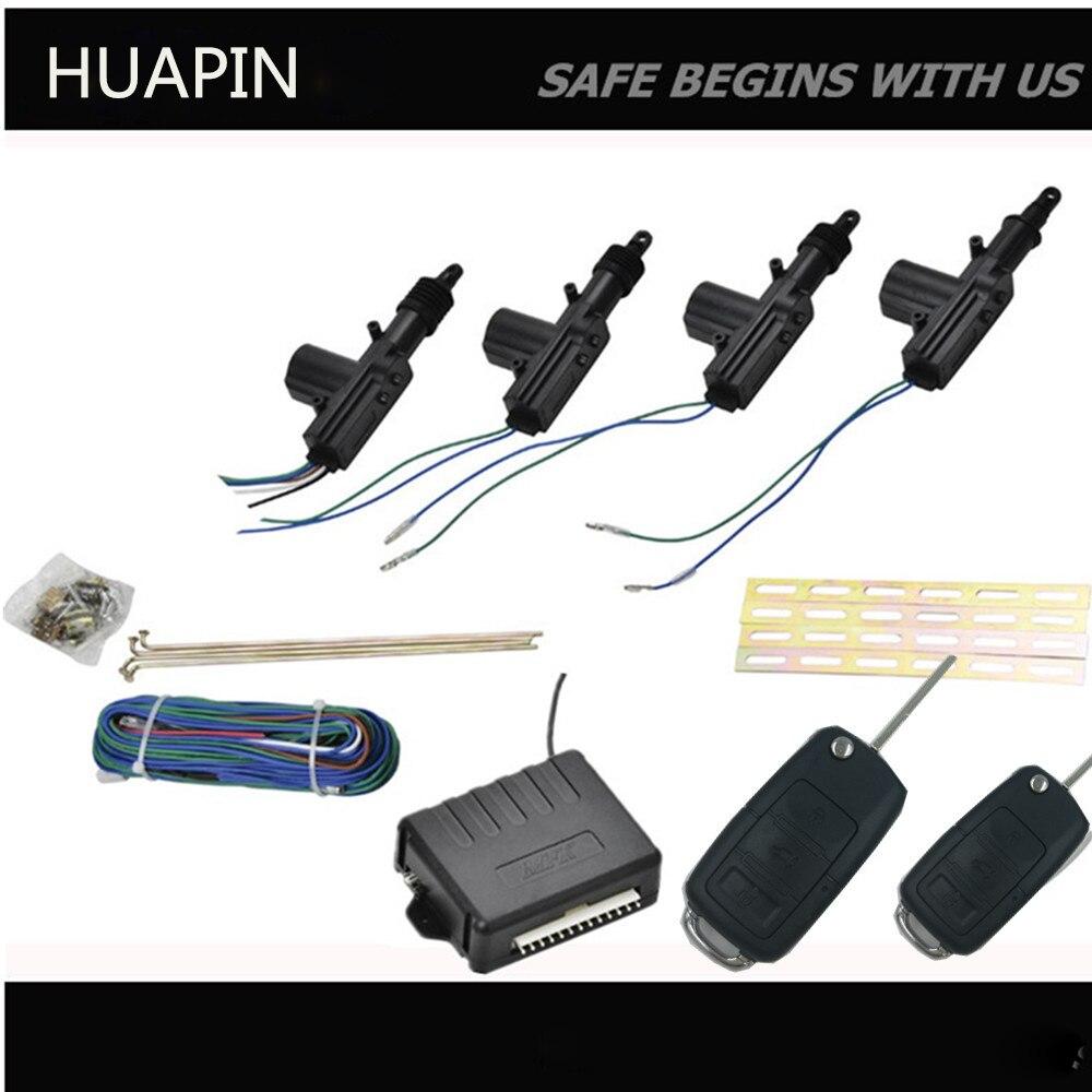 Kit de verrouillage de porte Central universel système de sécurité automatique sans clé pour 4 portes de voiture système d'alarme de voiture avec télécommande