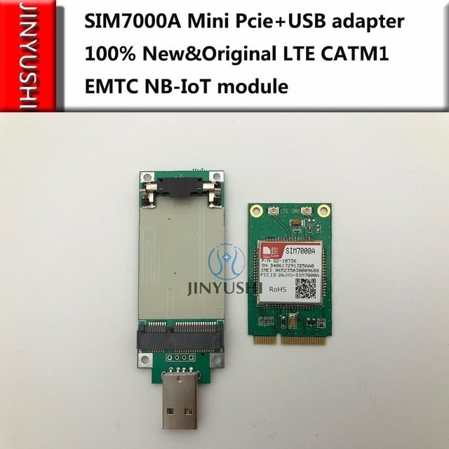 US $36 95 |JINYUSHI For SIM7000A Mini Pcie+USB adapter 100% New&Original  LTE CATM1 EMTC NB IoT module in the stock Free shipping-in Modems from