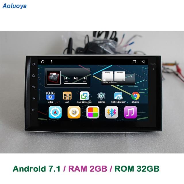 Aoluoya оперативная память 2 ГБ + 32 ГБ Автомобильный dvd-плеер Android 6,0 для Hyundai Azera Grandeur 2005-2010 автомобиля радио gps навигации мультимедиа BT DAB