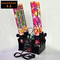 Korting Prijs 4 Hoofd Confetti Kanon Dmx Hoge Jet Afstand Spray Hoek Verstelbare Power Elektrische Connector Zekering Trigger