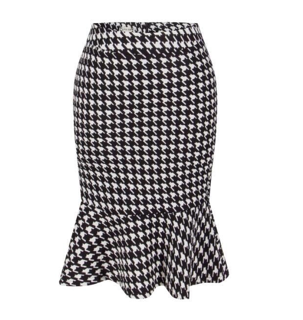 LIVA GIRL 2017 Hot Sale Ruffle Mermaid Skirt Business OL Work Mid Skirt High Waist Package Hip Fashion skirt