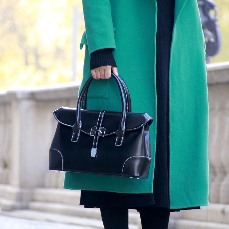 Leather Women Bag\Handbag 2020 Fashion Retro Lady OL Tote Designer Classic Female Bags Bolsos~Quality Guaranteed~20B52