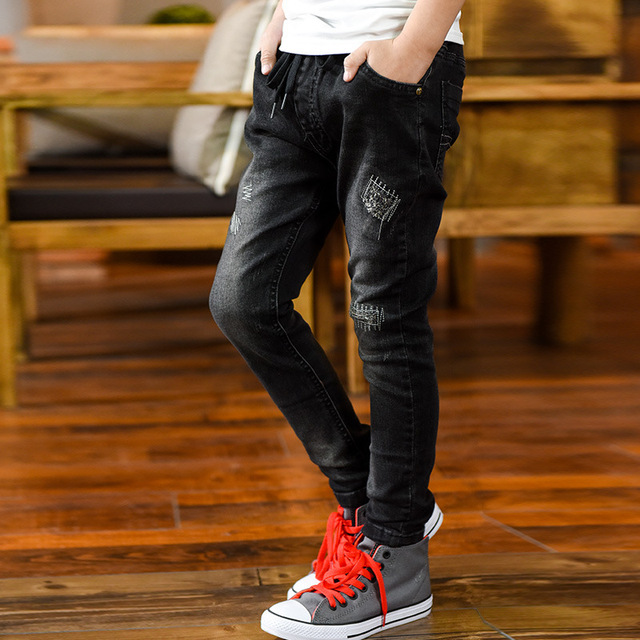c539cc4c1 Boy Autumn and Winter Ripped Jeans-in Jeans from Mother & Kids on ...