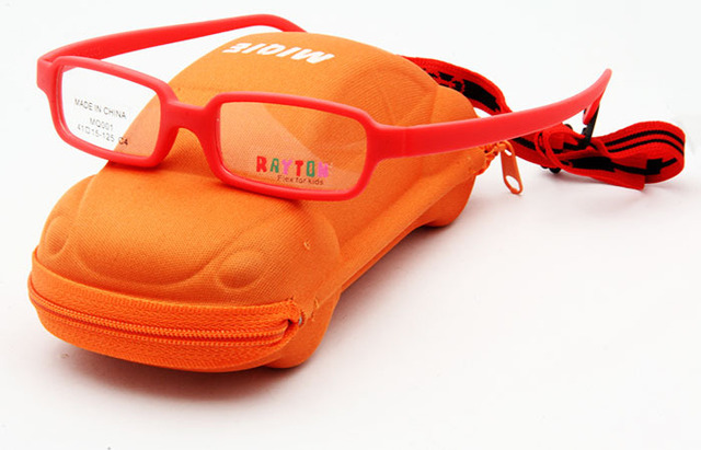 Free Shipping New Material  Carbon Fiber Glasses Frame Kids Safety Child Glasseswith Adjustable Headband and Case