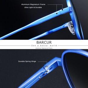 Image 3 - نظارات شمسية من الألومنيوم كبيرة الحجم من BARCUR نظارات شمسية مستقطبة للرجال نظارات شمسية للرجال مضادة للانعكاس مع صندوق هدية