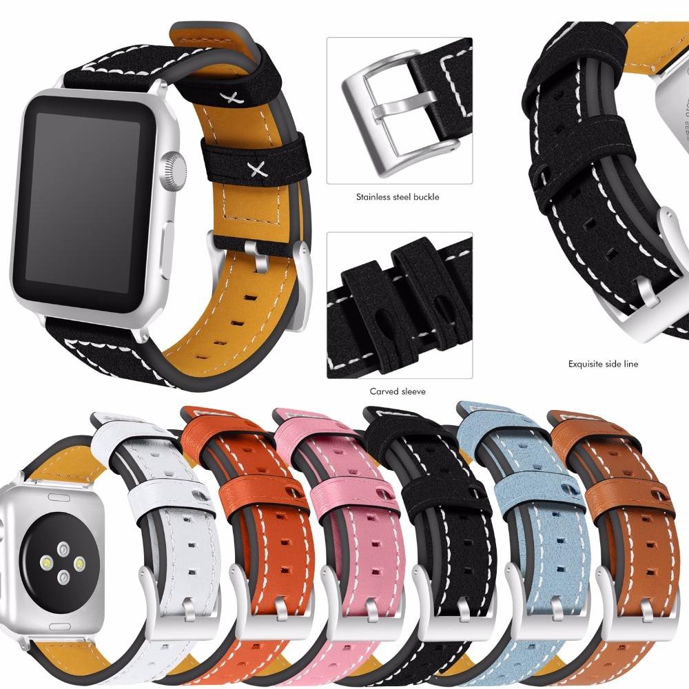 JOYOZY 100% Genuine Leather Watchband for Apple Watch Band Series 3/2/1 Leather 42MM 38MM For Iwatch Band Leather thetford туалетная бумага для биотуалетов aqua soft