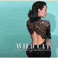 Le palais vindima verão mulheres black lace manga comprida wiggle dress pinup sexy roupas plus size vestidos elegantes jurken