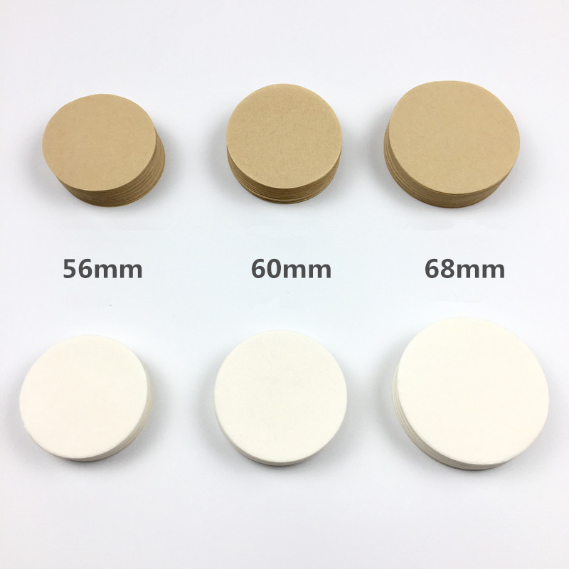 200PCS Coffee Filter Paper Round 56mm 60mm 68mm For Espresso Coffee Maker V60 Dripper Coffee Filters Tools Moka Pot Paper Filter