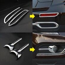 Автомобиль-Стайлинг специальное украшение АБС автомобиля противотуманные фары крышка авто аксессуары для Renault Koleos samsung QM6 2017-18 автомобилей
