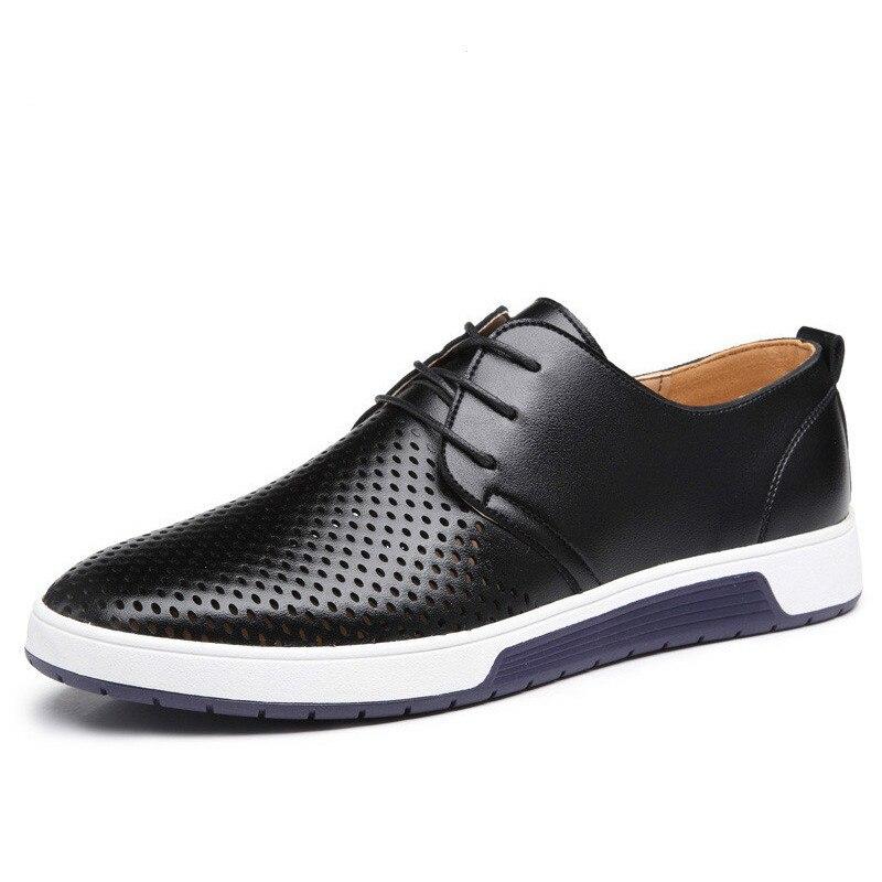 GYP Neue 2018 Männer Schuhe Leder Sommer Atmungsaktive Löcher Luxus Marke Flache Schuhe für Männer Drop Verschiffen ZY-33