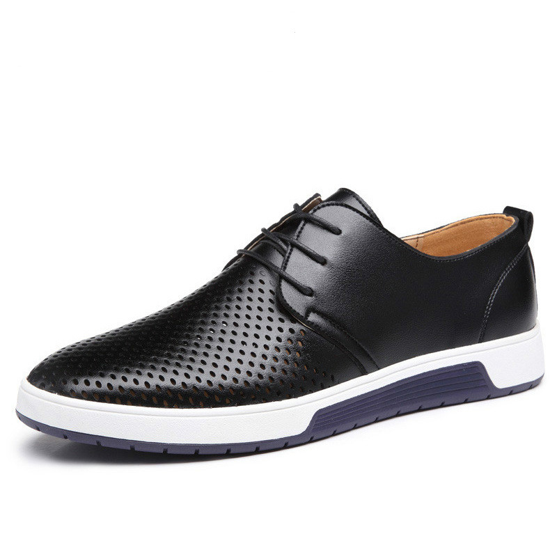 GYP  New 2018 Men Shoes Leather Summer Breathable Holes Luxury Brand Flat Shoes for Men Drop Shipping ZY-33GYP  New 2018 Men Shoes Leather Summer Breathable Holes Luxury Brand Flat Shoes for Men Drop Shipping ZY-33