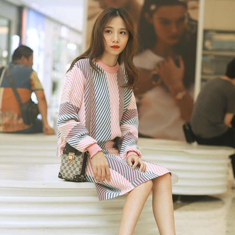bbdca999885 Women's Knitted Sets Long Sleeve Office Winter 2 Pieces Sweater ...