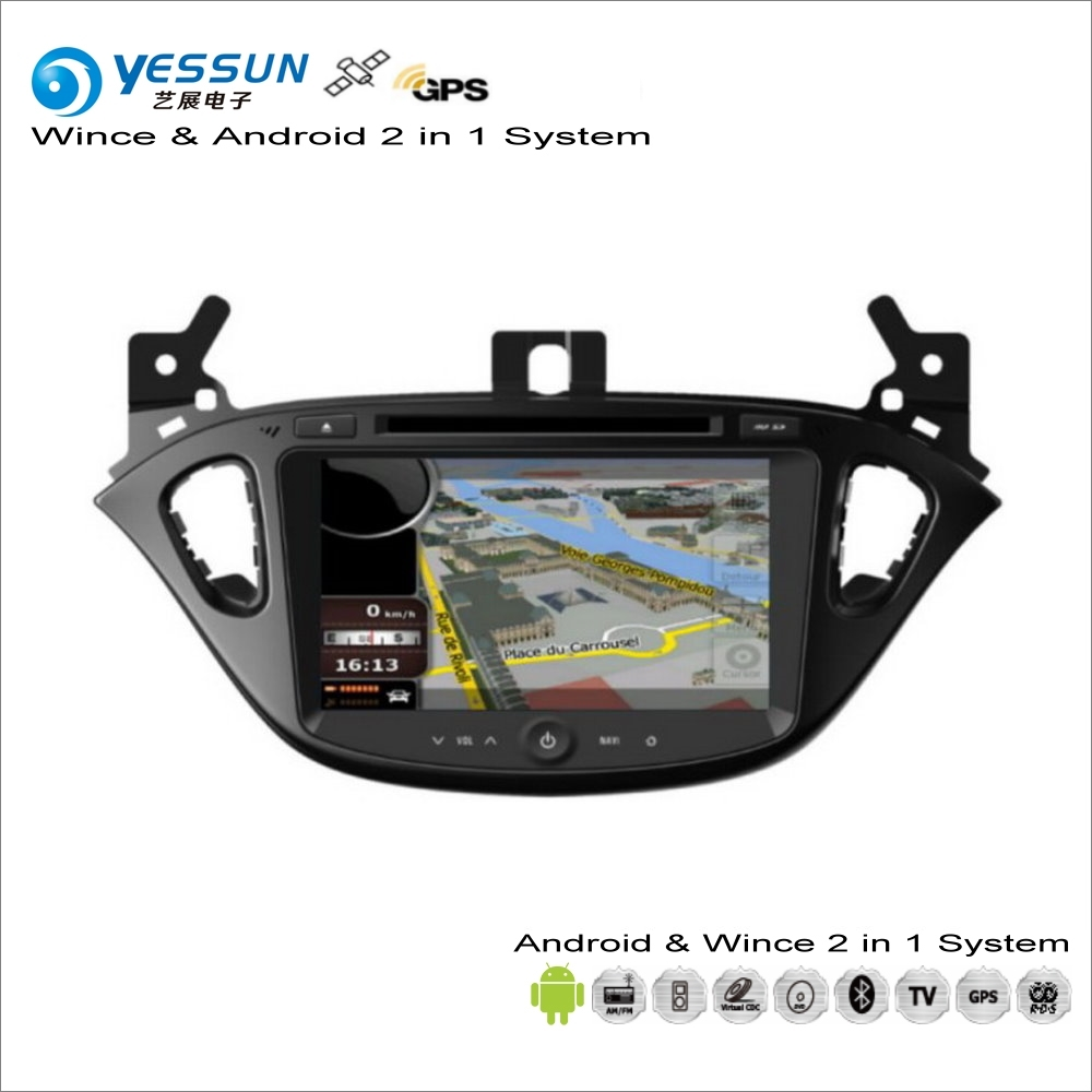 YESSUN For <font><b>Opel</b></font> <font><b>Corsa</b></font> E <font><b>2014</b></font>~2017 Car Android Multimedia <font><b>Radio</b></font> CD DVD Player GPS Navi Navigation Audio Video Stereo S160 System image