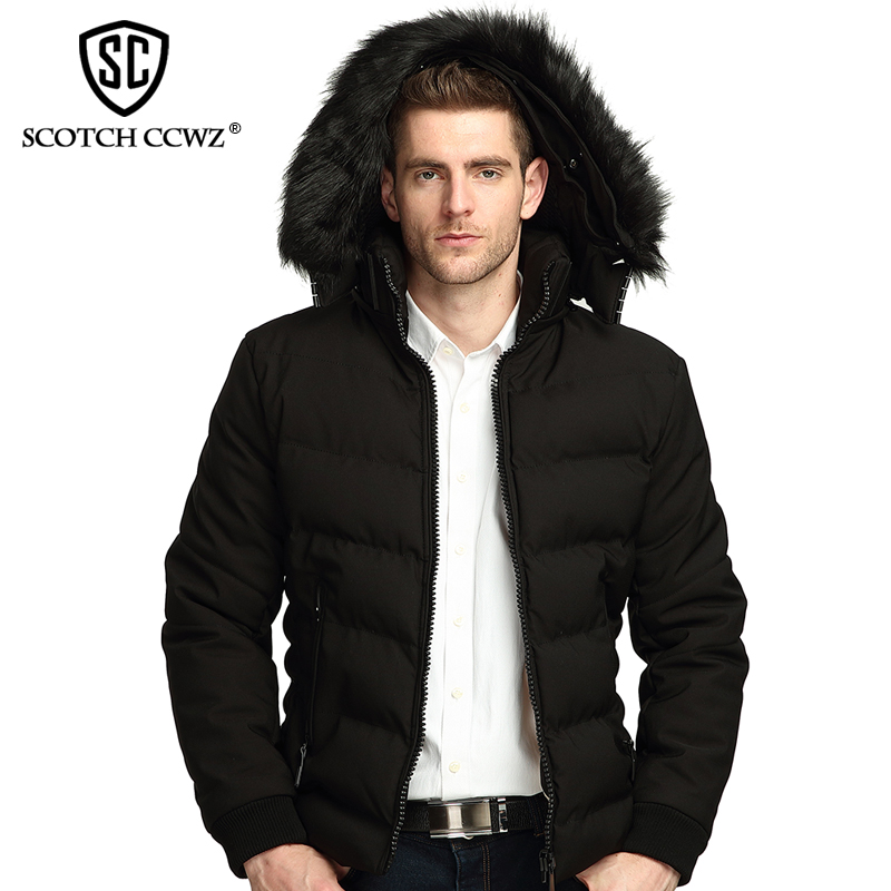 SCOTCH CCWZ Brand RU/EU size Thick Warm Winter Jacket Men Parkas Outerwear Casual Jackets And Coats Clothing High quality 71712 free shipping winter parkas men jacket new 2017 thick warm loose brand original male plus size m 5xl coats 80hfx