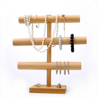 3 Layer Bracelets Display Holder Wood Bracelets Pendant Necklace Display Holder Wood Jewelry Display Stand