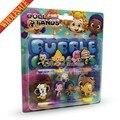 Pvc de la historieta de la burbuja guppies resorte de juguete muñeca figuras de acción accesorios para el bolso niños exquisito party favors toy / regalos