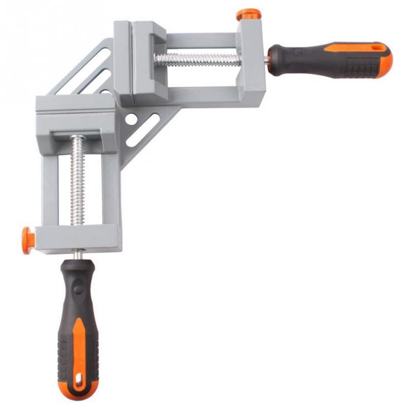 Aluminum Double Handle 90 Degree Right Angle Clamp Angle Clamp Woodworking Frame Clip Right Angle Folder Tool цена
