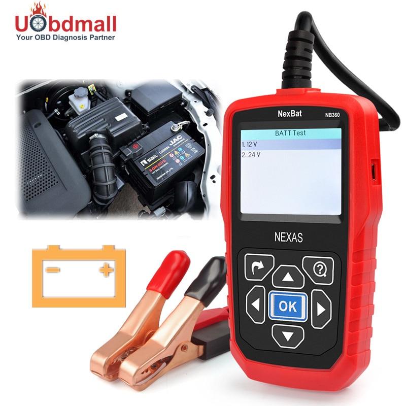 Prix pour Moins cher 12 V et 24 V Batterie Testeur NB360 Multi-langue Pour 12 V Batterie Et 12 V/24 V de Départ/Système De Charge Mieux Que BST460