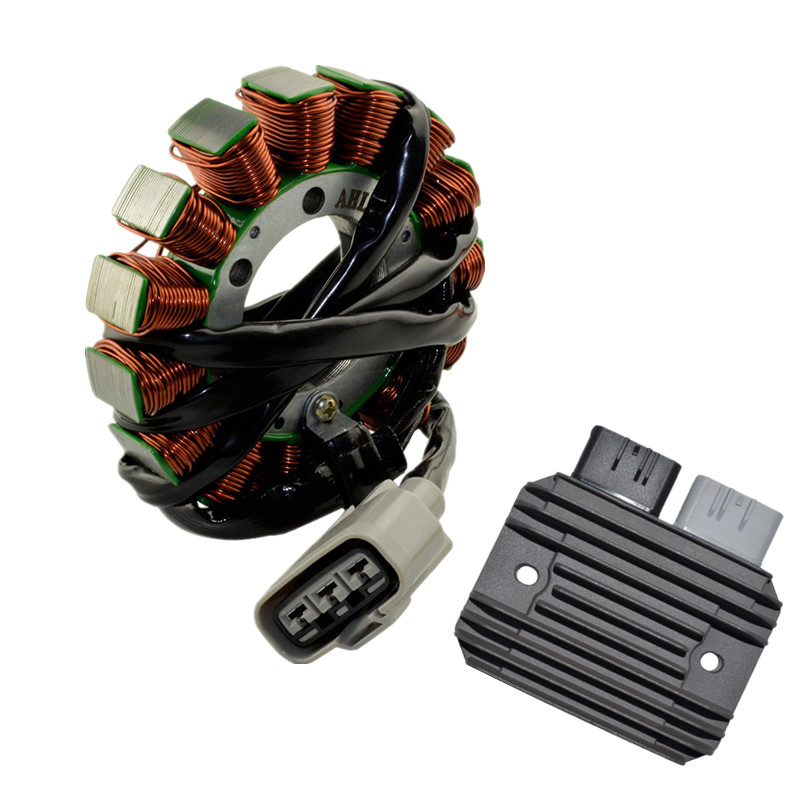 Мотоцикл генератор Запчасти обмотки статора комп + Напряжение Регулятор выпрямителя Для Kawasaki ZX 6R ZX6R ZX 6R 2009 2014