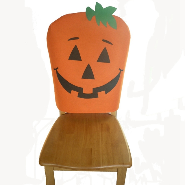 Incroyable 1pc Halloween Pumpkin Chair Cover Cloth Pumpkin Chair Seater Back Cover For  Home Coffee Store Halloween