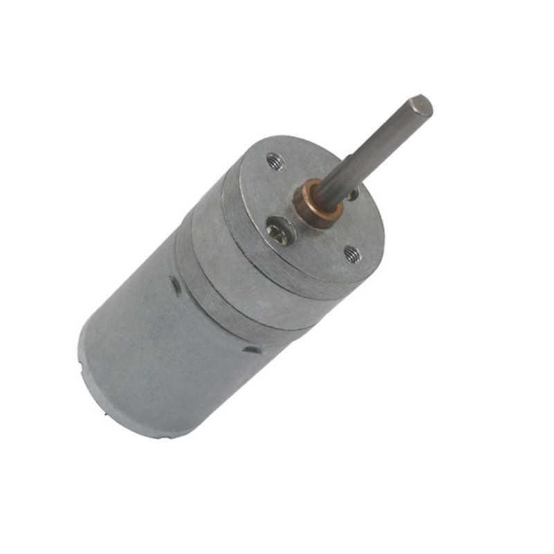 6/12/24V Gear Motor 25mm Diameter Gear Box 25x4mm Central Long Shaft DC Motor