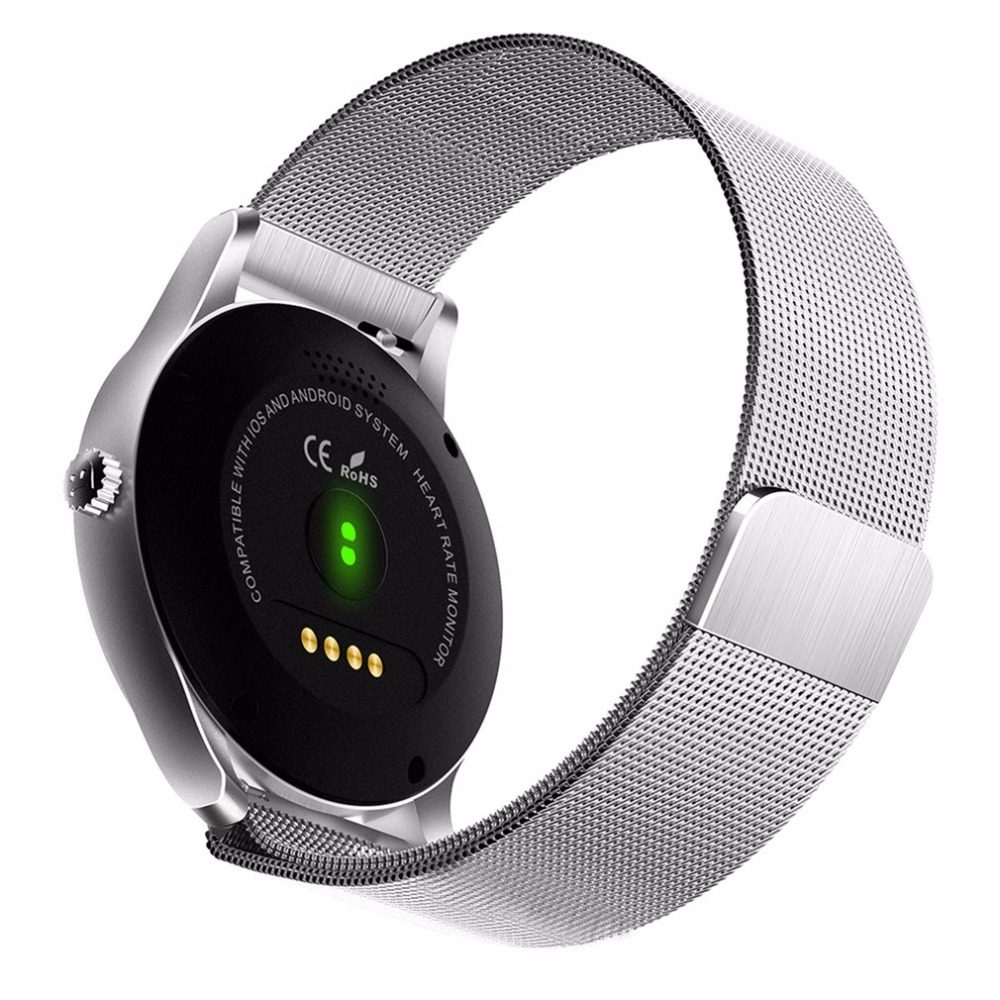 Digital Watches Bluetooth 4.0 Smart Watch Ultra Thin Mesh Belt Stainless Steel Wristwatch 1.22inch Ips Screen 300mah Battery Heart Rate Sensor Orders Are Welcome. Men's Watches
