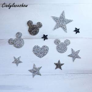 Cindylaceshow 5PCS beads Sequined Appliques Iron on Patch a61a7d229260
