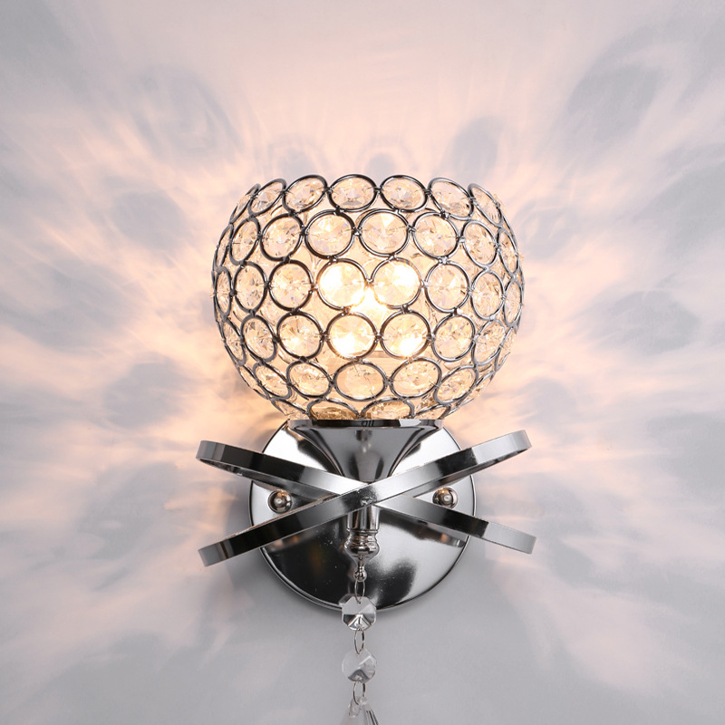 Nordic Post-modern Glass Ball LED Wall Lamp Iron Golden Mounted Wall Light Sconce Home Fixtures for Living Room Bedroom Corridor недорого