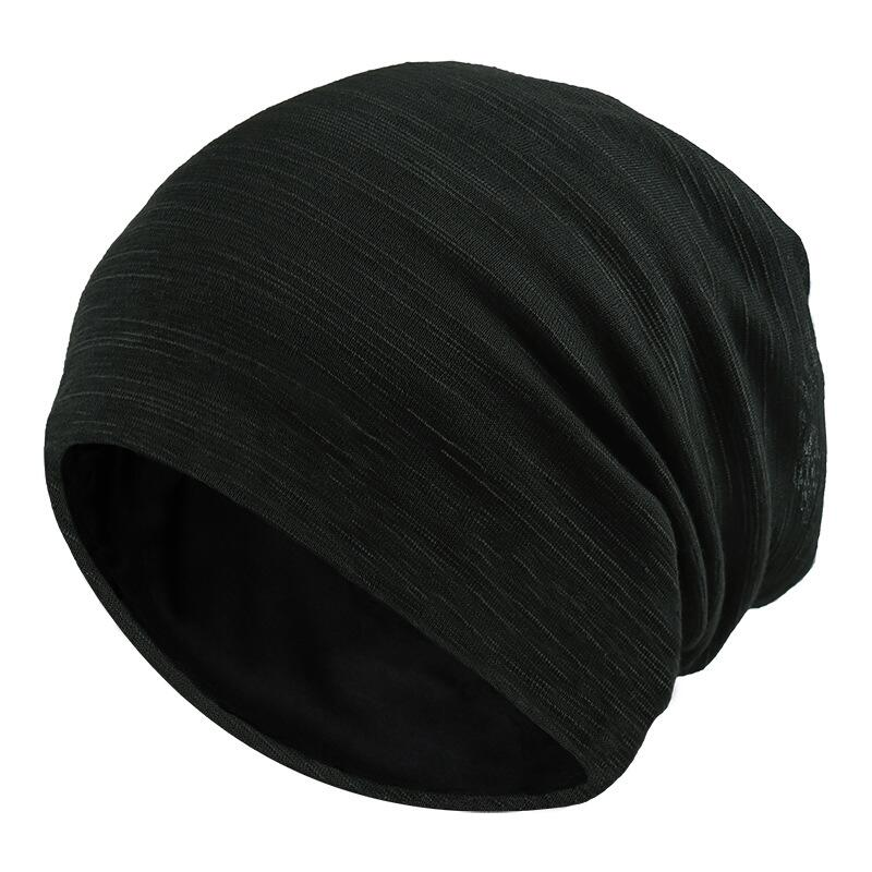 Brand oZyc Solid Color Unisex Men Women Skullies Beanies Hedging Cap Knit Knitting Cotton Double Layer Fabric Caps Bonnet Hat winter women hedging skullies beanies knitting caps bonnet double layer cotton knitted hat lace cap