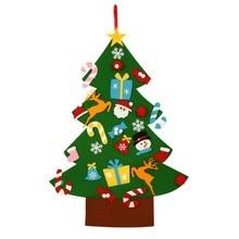 Дети DIY фетр Рождественская елка с орнаментами Дети Рождественские подарки для 2018 новый год дверь стене висит рождественские украшения
