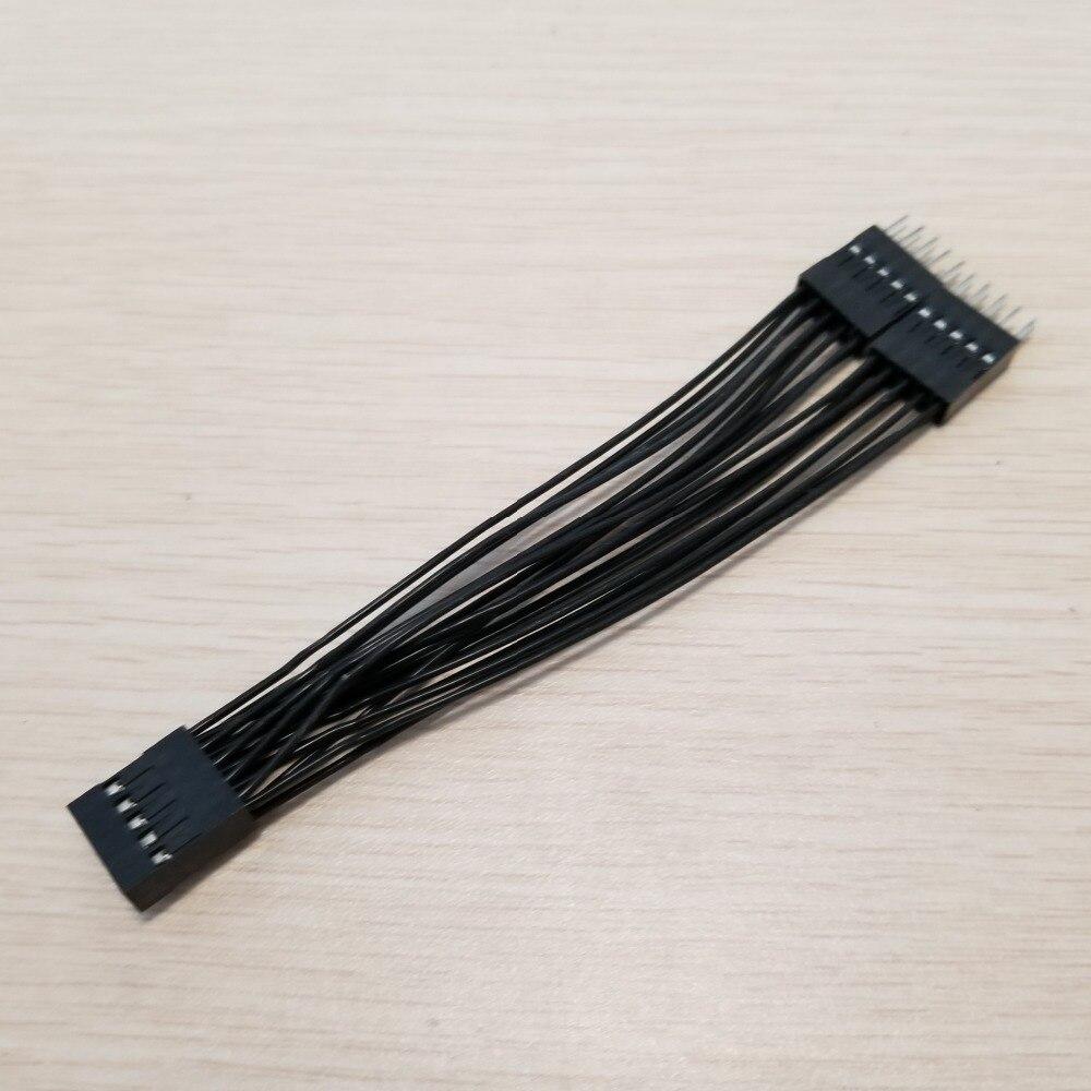 Image 4 - 10 шт./лот материнская плата аудио HD Удлинительный кабель 9Pin 1 Female to 2 Male Y Splitter кабель черный для ПК DIY 10 см