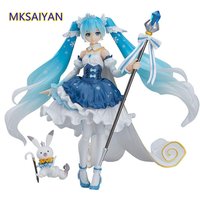 Hatsune Miku Snow Miku Toy EX 054 Action Princess Figma Movable Doll PVC 10th anniversary Girl Beautiful Anime Figure Model Gift