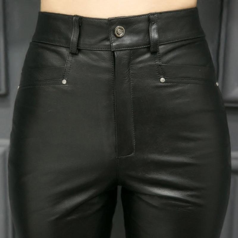 Bureau Maigre Véritable S Sexy Haute Pantalon Taille Lady Pleine Femmes Top Black En 5xl Longueur La Cuir Qualité Crayon Plus Femme f1PzwqAx8