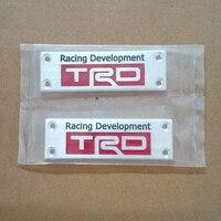 Aluminium TRD Racing Development Podłoga Dywan Godło Odznaka Matt Dla Toyota Camry Korona 4 Hilux 4runner Tacoma Dla Scion xB tC xD