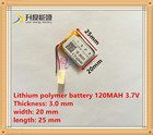 3.7V lithium polymer battery 032025 302025 120mah MP3 MP4 MP5 battery
