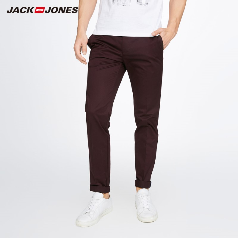 JackJones Men's Stretch Pants Casual Trousers Business Casual Slim Classic Trousers Pencile Pants Mens 217314519