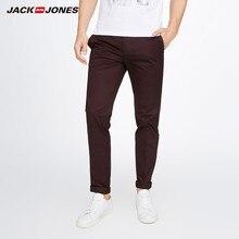 JackJones мужские Стрейчевые брюки повседневные брюки деловые повседневные Узкие классические брюки мужские брюки s 217314519