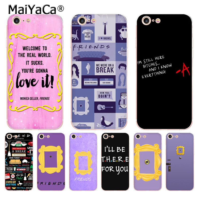 MaiYaCa Monica's Peephole Door Frame Friends TV Show Sitcom phone case for Apple iPhone 8 7 6 6S Plus X 5 5S SE 5C 4 4S Cases