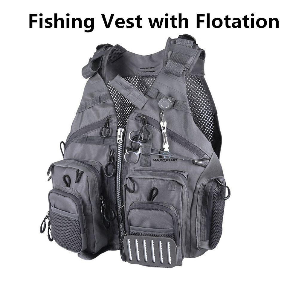Maximumcatch Fly Fishing Vest With Multifunction Pockets Size Adjustable Fishing Backpack With Detachable Floatation Cushion стоимость