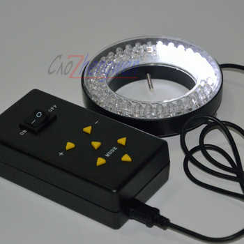 FYSCOPE 144 LED Four-Zone Microscope Ring Light with Adapter 90-240V Microscope led light