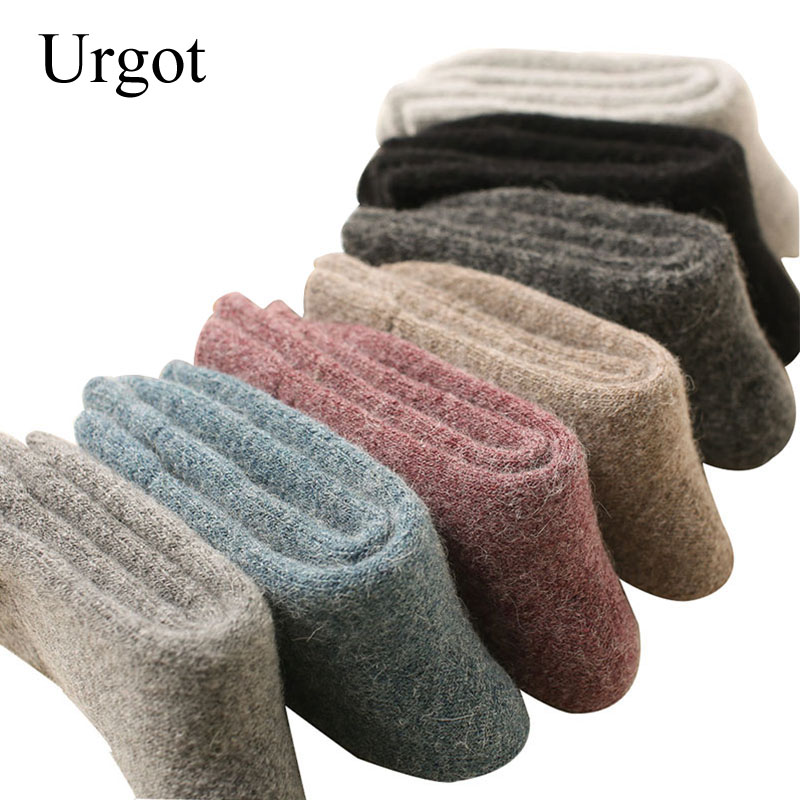 Urgot 5 Pairs/lot Wool Socks Men Women Winter Towel Cashmere Socks Sleep Warm Men's Socks Casual Fashion Calcetines Mujer Hombre