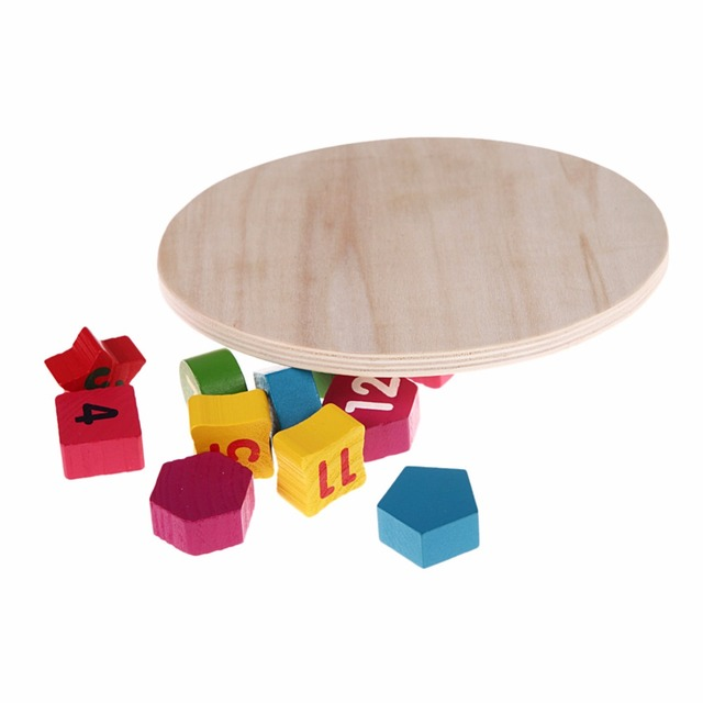 Colorful Digital Geometry Clock Children Wooden Puzzle Toy Educational Mathematics Learning Montessori Toy For Kid Birthday Gift