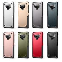 10 шт. противоударный чехол для samsung Galaxy S7 край S8 S9 плюс Примечание 8 9 Броня Гибридный ТПУ ПК Жесткий чехол телефона