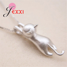 Pretty Cat Pendants 925 Silver Necklace Women/Girls Party Accessory Cute Animal Design Lady Gifts Jewelry pretty girls