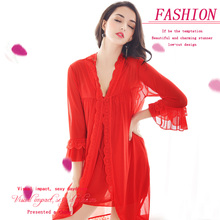 2017 Summer Dress Sexy and lace night skirt breathable and light sleepy night gown sleepwear women nightgown sexy dress lingerie