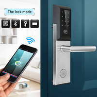 Bluetooth Digital Password Smart Card Door Lock Keypad T ouch Screen Electric Lock for House Apartment Hotel Room