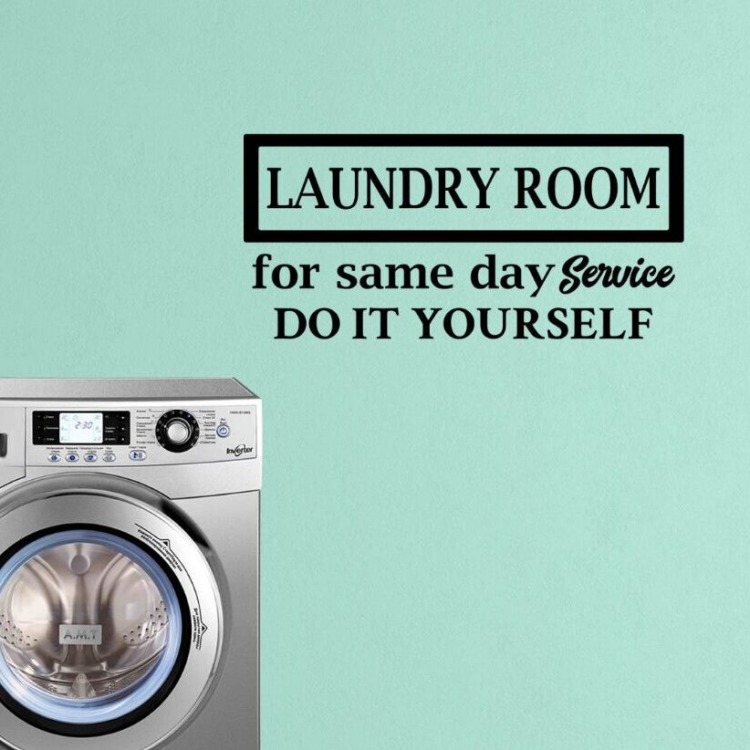 Wall Decal Laundry Room Service Wallpaper Do It Yourself