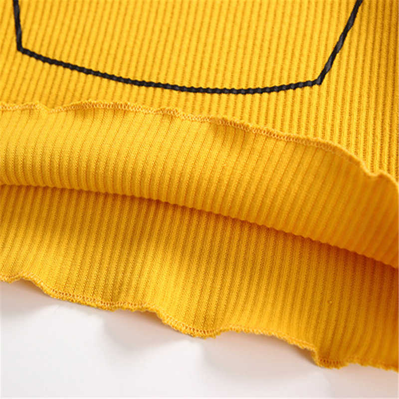 秋春綿ニット Tシャツスタイルかわいいクラウンパターン長袖の服ガールカジュアルブラウストップス